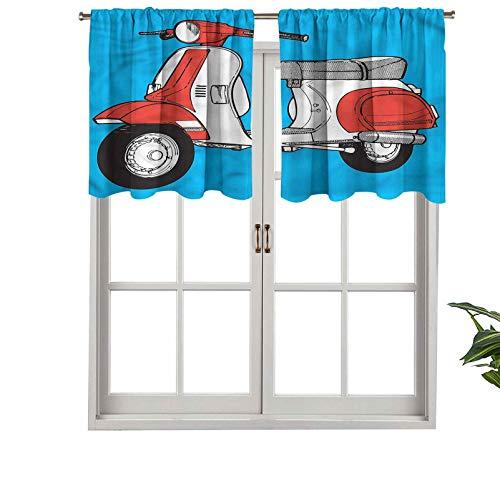 Hiiiman Cenefa de cortina de bolsillo para barra, scooter, motocicleta, juego de 1, 91,4 x 45,7 cm para decoración de interiores