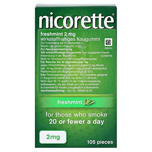 nicorette 2 mg freshmint, 105 St. Kaugummi