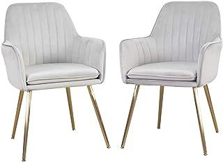 DMF Furniture Modern Velvet Accent Chair Set of 2 High...