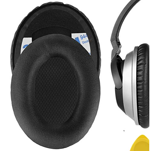 Geekria QuickFit Protein Leather Replacement Ear Pads for Bose AE1, Triport 1 TP-1 Headphones Earpads, Headset Ear Cushion Repair Parts (Black)