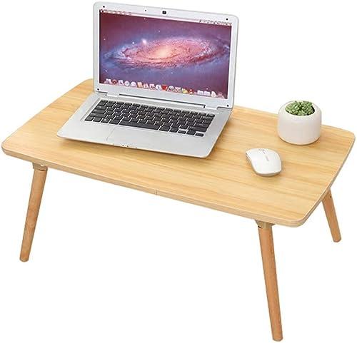 YH Dortoir Pliant Chambre Baie Vitrée Maison Multi-Fonction Petite Table Simple Bureau Ordinateur Lit Bureau A+ (Couleur   Holzimitat, Taille   70  40cm)