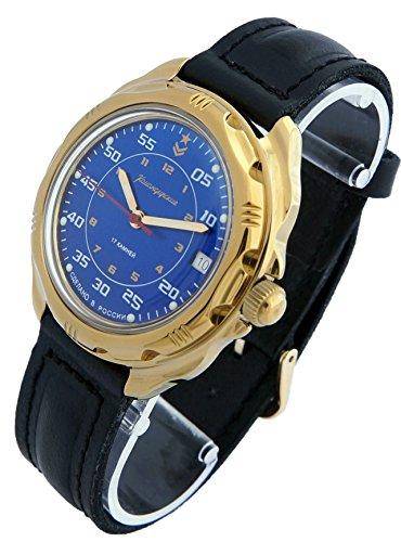 Vostok KOMANDIRSKIE Militar ruso reloj Comandante Golden Color Ministerio caso 2414/219181