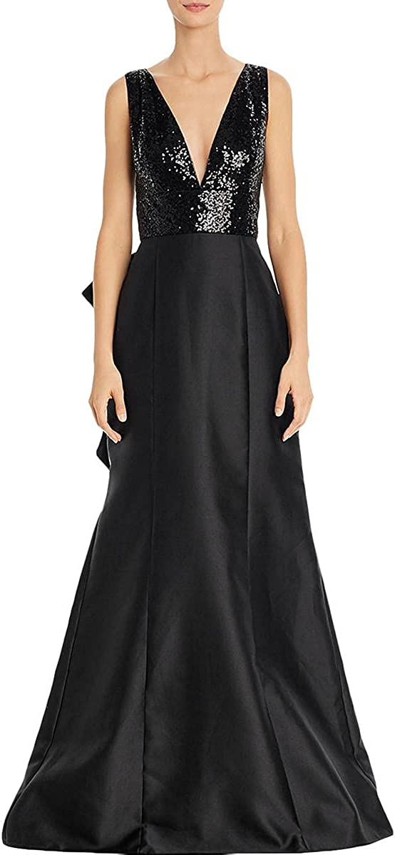 Adrianna Papell Women's Sequin Mikado Gown