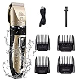 Zedco Dog Razor Electric Clipper Low Noise Professional Rechargeable Wireless pet Grooming Hair Clipper.