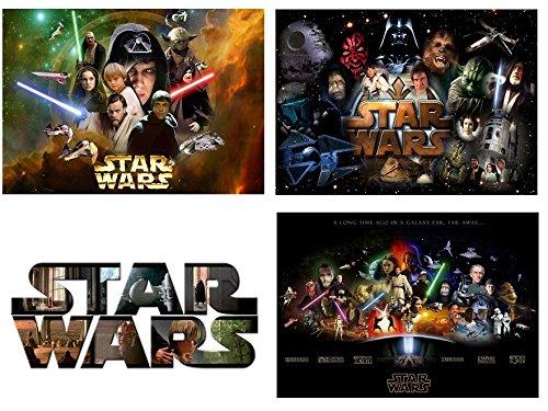 Star Wars 3 manteles individuales y 4 posavasos