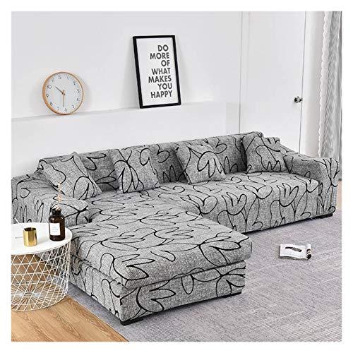 NEWRX Cubierta de sofá con Estampado Floral Cubierta de sofá elástica para la Sala de Estar Esquina en Forma de Longitud de Longue Sofá Necesita Comprar Dos Cubiertas separadas