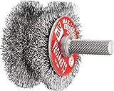 Spazzola sagomata per Trapano in Acciaio ondulato - CLEPSYDRA in Blister - Ø: 60-40mm