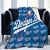 Dodger Blue This Versatile Lightweight Flannel Blanket Gives You A Diversified Look and is Perfect for Any Bed Sofa Dorm Office Camping Traveling 80'X60'