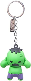 Official Marvel Comics Incredible Hulk Character 3D Rubber Keychain   Green