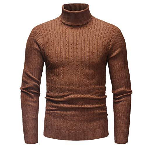 Los hombres Twist Tortcuello Suéter Otoño Invierno Slim Fit Pullover Prendas de Punto Masculino Manga Larga Cuello Alto Suéter de Punto Tops