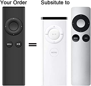 AZMKIMI Remote Control Replacement for Apple MC377LLA MD199LLA Remote, Compatible with Apple 2 3 TV Box, Mac Music System iPhone iPad iPod (Black)