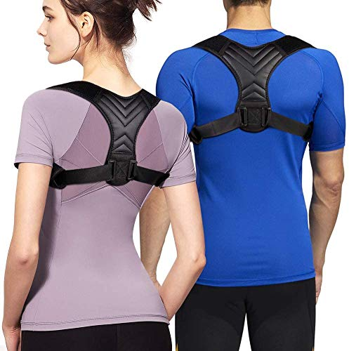2021 Posture Corrector Adjustable Back Support for Men and Women | True Fit | Reliefs Pain - Back, Shoulders, and Neck | Posture Therapy | Upper Back Brace