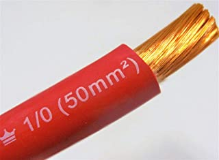 EXCELENE 1/0 AWG WELDING/BATTERY CABLE RED 600V MADE IN USA COPPER 75'