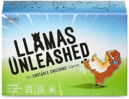 Llamas Unleashed Card Game from The Creators of Unstable Unicorns A Strategic Card Game Party product image