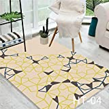 Feidaeu Nordic Simple Carpet 3D Area Rugs Printing Bedroom Office Crystal Velvet Mat Living Room Coffee Table Mat