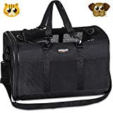 Soft-Sided Pet Travel Carrier,Airline Approved Pet Carriers for Medium Big Dog and Cat,Collapsible Cat Carrier Dog Carrier Bag.(Black)