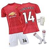 CWWAP Jersey de Entrenamiento de fútbol al Aire Libre de los Hombres Adecuado para Manchester # 18 B.Fernandes 314 Lingard Football Uniform Set, Fan Edition Soccer Jersey #14-22
