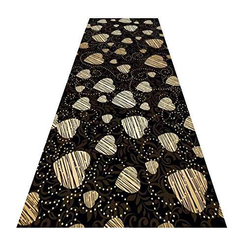 XZPENG Larga corredor alfombra de la alfombra, con borde de borde antiadherente de borde alfombras moderno 3d Protector de piso de impresión de la suciedad del trampero lavable para la cocina del pasi