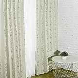 Baibu Home カーテン 幅100cm×丈135cm おしゃれ 2枚組 ドレープ 遮光 カーテン 2級遮光 洗濯可 かわいい 形状記憶 断熱 花柄