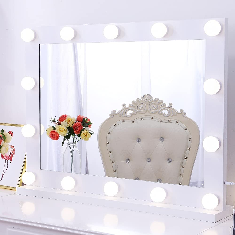 OFFicial site Chende Today's only Large Vanity Mirror with Hollywood Makeup Lights LED Mir