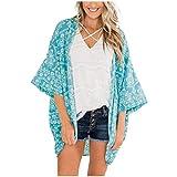 Ibeans Blusas De Gasa/Playa para Mujer, Blusa Tipo Kimono, C