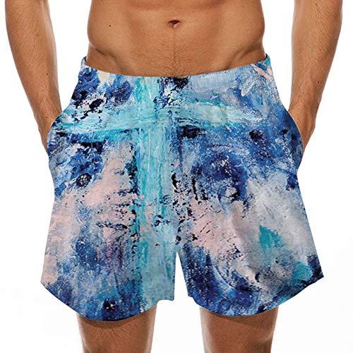 2021 Nuevo Pantalones Corto Hombre verano Moda Casual Pantalones de playa Cómodo Impresión Suelto Bañador Original Chándal de hombres Secado rápido Jogging Pants trend Deportivos