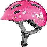 ABUS Smiley 2.0 Kinderhelm - Robuster Fahrradhelm für Mädchen und Jungs - 72567 - Pink mit Schmetterlingsmuster, Größe M - 3
