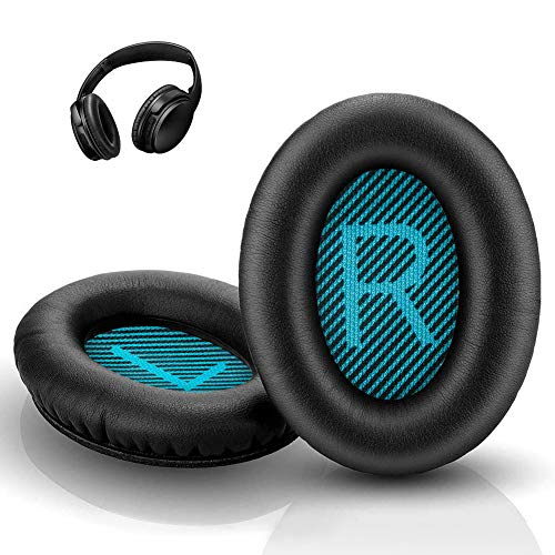 QC35 Headphones Replacement Ear Pads, QC35,QC35ii Replacement Earpads Cushion - Compatible for Quiet Comfort35,QC25,QC35ii,QC15,AE2,AE2i-Comfortable & Durable (Blue)
