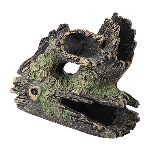 Garosa Aquarium Driftwood Kunstmatige Hars Boom Trunk Dodge Fokken Speel Huis Boom Wortels Holle Boom Gat voor Vis Tank Ornamenten, ST-004C