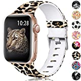 KOLEK Leopard Bands Compatible with Apple Watch Band, Durable TPU...