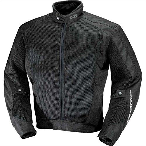IXS Airmesh Evo 2 - Giacca da moto in tessuto, Donna Uomo, X51024, Nero , M