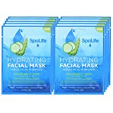 SpaLife Hydrating, Purifying, Anti-Aging, Detoxifying and Soothing Korean Facial Masks - 10 Masks - (Cucumber + Aloe)