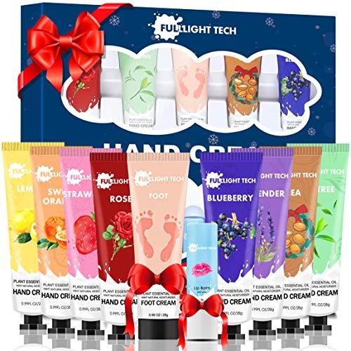 10 Packs Handcreme Geschenkset mit Lippenbalsam Fußcreme Schrundensalben,Geburtstagsgeschenk Weihnachtsgeschenke für Frauen Männer Mama Weihnachten Geschenke Valentinstag Geschenk für Sie Freundin Oma