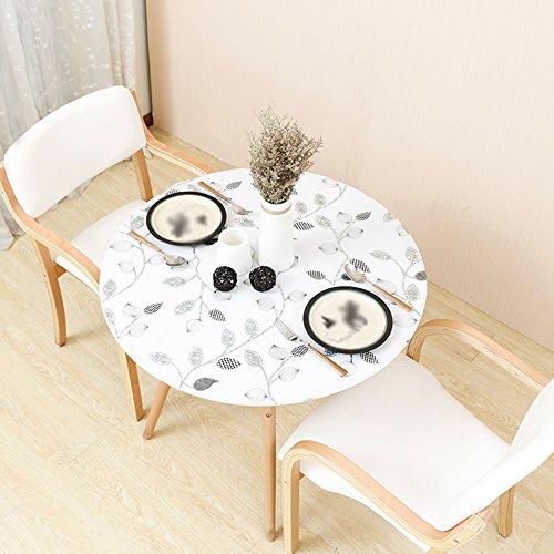 ZWL Nappe imperméable à l'eau, PVC ronde nappe douce table tapis créatif opaque table mat table bureau nappe restaurant café nappe diamètre 80-135 cm , Ajoutez de la vitalité à la cuisine ( Couleur : B , taille : 120cm )
