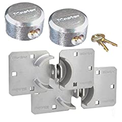 This listing is for two (2) high security hasps and two (2) keyed alike hidden shackle padlocks. You will receive 4 keys with your order. This tough, shrouded lock/hasp combination is ideal for vans, trucks, gates, and vending machines. A similar lis...