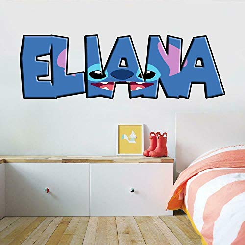 TJJS Wandtattoos Baby personalisierte Name Aufkleber benutzerdefinierte Kunst Wandbild