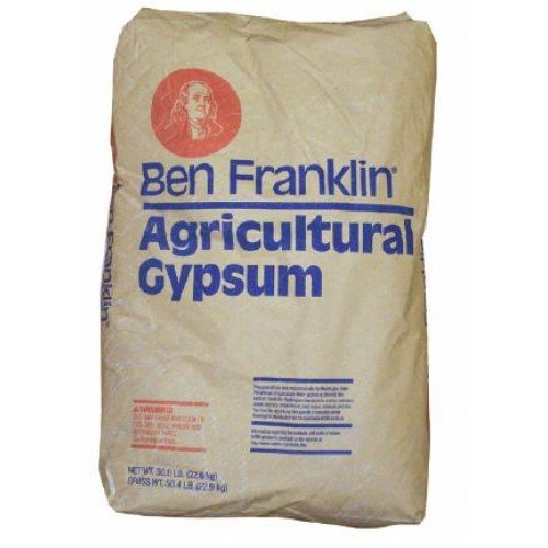 British Gypsum for Agricultural Amendment, Amend Very Compact Clay Soils, 25kg Bag