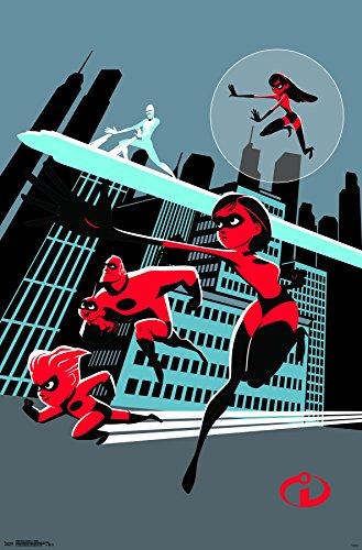 Trends International Disney Pixar The Incredibles 2 - Artistic Wall Poster, 22.375' x 34', Premium Unframed
