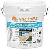 RENOVATEC CORONA de Tecno Prodist - (5 kg) BLANCO Pintura para renovar bordes de...