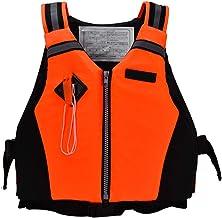 Chaleco Salvavidas de la tripulación, Chaleco Salvavidas dinámico de Paleta Deportivo Chaleco de Supervivencia con Silbato de Emergencia para Nadar Canotaje Kayak Canotaje 50-95 kg Adulto