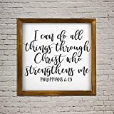 Colgante de pared corto versos de la biblia Signs Be still my soul set de dos letreros de madera inspiradores palabras para vivir por, elegante decoración vertical para colgar en la pared