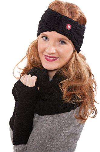 APU KUNTUR Alpaka-Handstulpen BIESEN Baby Alpaka Arm-Stulpe Gelenkw�rmer Pulsw�rmer Damen schwarz