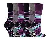 """-6Paar nicht elastische Damensocken """"Gentle Grip"""", Größe UK: 4–8, EUR: 37–42 Gr. Medium, GG10"""