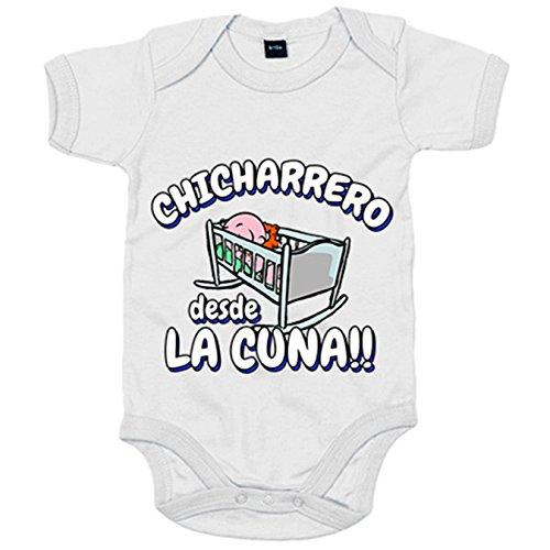 Body bebé Chicharrero desde la cuna Tenerife fútbol - Blanco, 6-12 meses