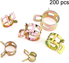 SaferCCTV 200pcs Spring Clip Clamp Exhaust Pipe Clip Stainless Steel Elastic Band Hoops for Hose Air Hose Water Pipe Automotive Fuel Line Silicone Hose Etc(5mm 6mm 7mm 8mm 9mm 10mm 11mm 12mm)