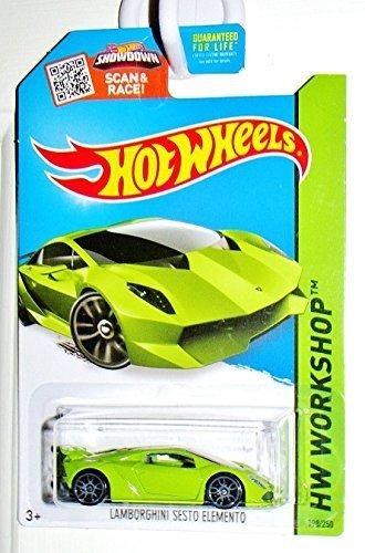 Hot Wheels, 2015 HW Workshop, Lamborghini Sesto Elemento [Lime Green] Die-Cast Vehicle #198/250 by Hot Wheels