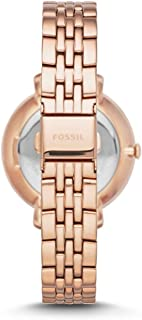 Fossil Jacqueline for Women - Analog Dress Stainless Steel Band Watch - ES3546P