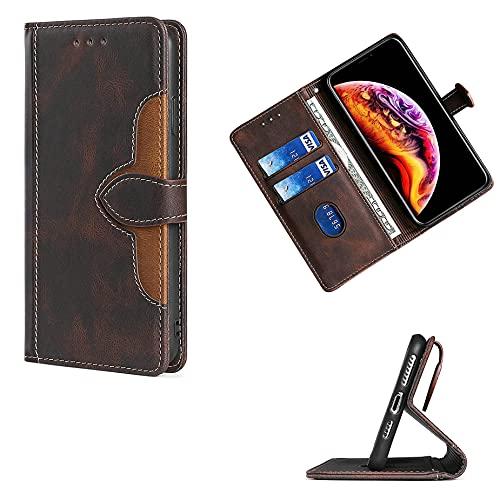 S&ekun GKCCM Flip Hülle Für Elephone S3 Lite Hülle Handyhülle Hülle Cover [braun]