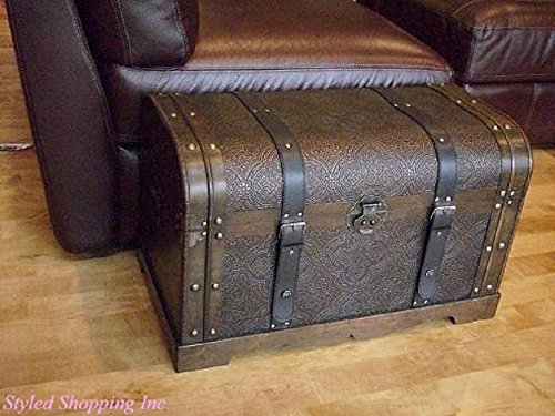 Styled Shopping Antique Victorian Wood Trunk Wooden Treasure Hope Chest - Medium Size
