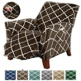 Great Bay Home Modern Velvet Plush Recliner Slipcover. Strapless One Piece Stretch Recliner Cover. Recliner Cover for Living Room. Magnolia Collection Slipcover. (Recliner, Walnut Brown)